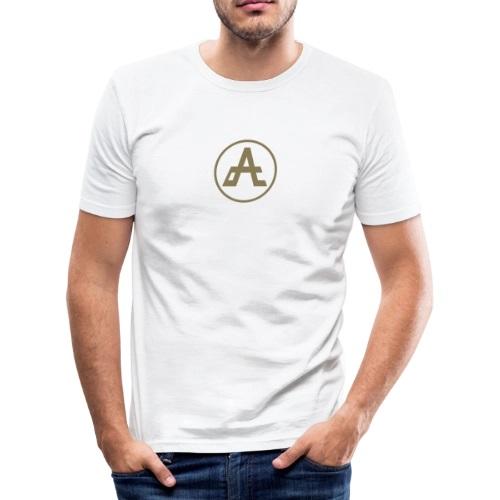 logo-oro-impresa-adrena-maglietta-aderente-da-uomo