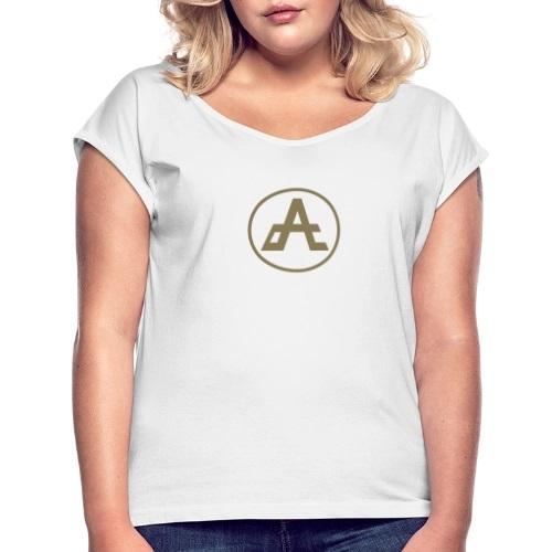 logo-oro-impresa-adrena-maglietta-da-donna-con-risvolti